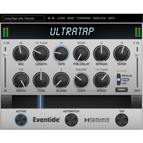 Eventide UltraTap Plugin, Multi-Tap Delay With Mod & Reverb (Download)