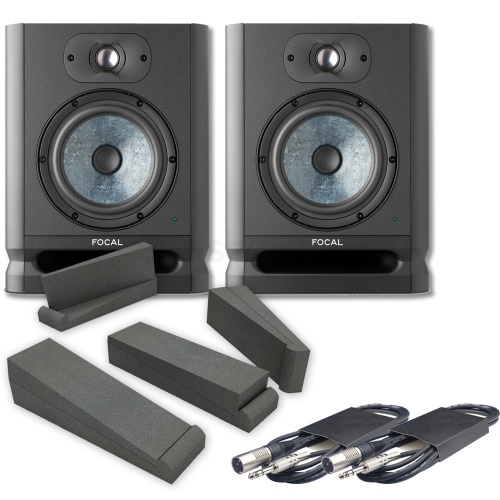 Focal Alpha 65 EVO Active Studio Monitors (Pair) + Iso Pads & Leads Bundle