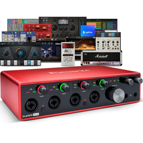 Focusrite Scarlett 18i8 (G3) USB Audio Interface + Free Plugin Bundle