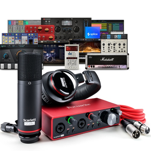 Focusrite Scarlett 2i2 Studio (G3) Interface, Microphone & Headphones
