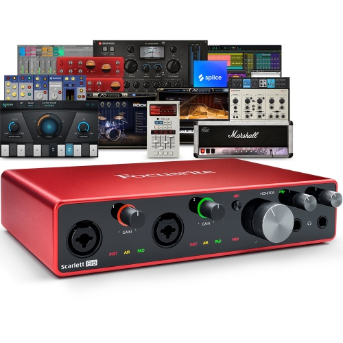 Focusrite Scarlett 8i6 (G3) USB Audio Interface + Free Plugin Bundle