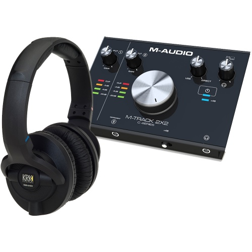 ​KRK KNS6400 Studio Headphones + M-Audio M-Track 2x2 Bundle