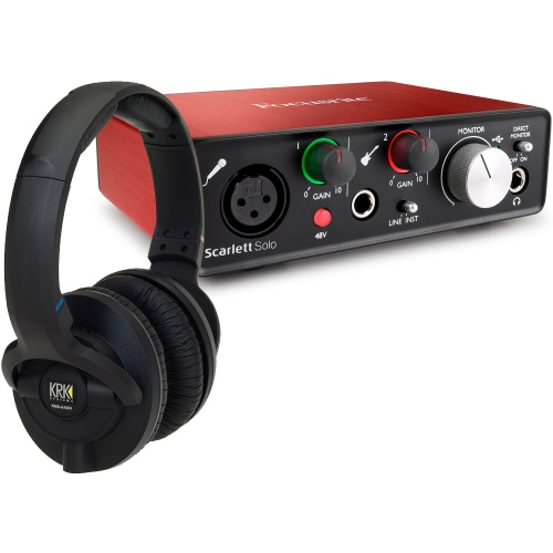​KRK KNS6400 Studio Headphones + Focusrite Scarlett Solo (G2) Bundle