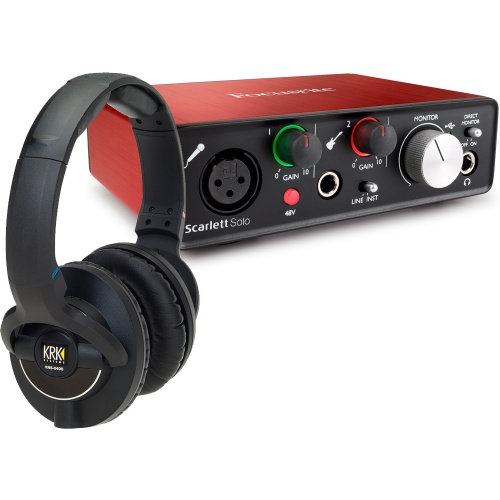 ​KRK KNS8400 Studio Headphones + Focusrite Scarlett Solo (G2) Bundle