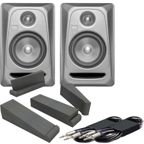 KRK Rokit RP5 G3 Platinum Edition + Iso Pads & Leads Bundle (B-Stock)