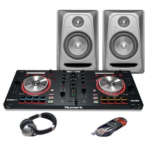 Numark Mixtrack Pro MK3, RP5 G3 Platinum Monitors + Headphones Bundle