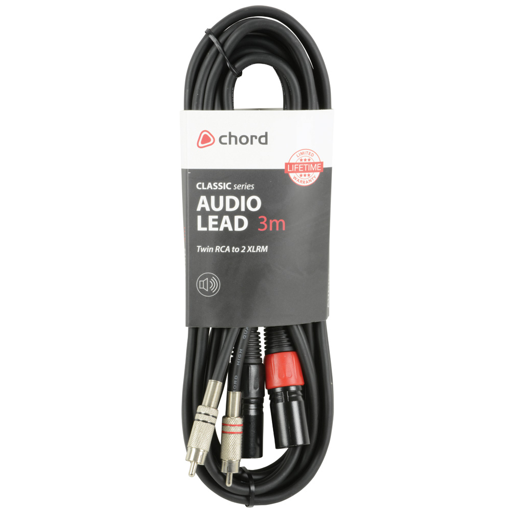 Chord Twin RCA to XLRm 3 Metre Balanced Audio Cable (190.059UK)
