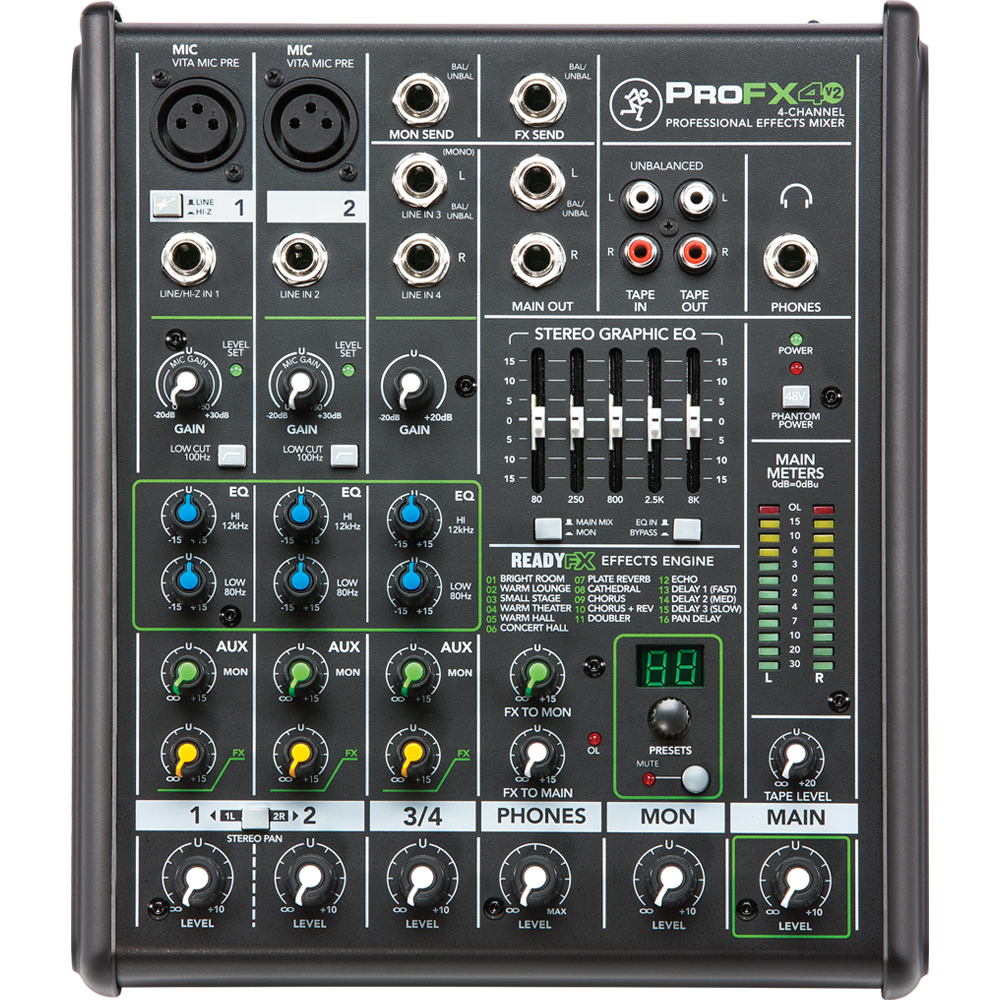 Mackie ProFX4v2 4 Channel Professional Effects Mixer