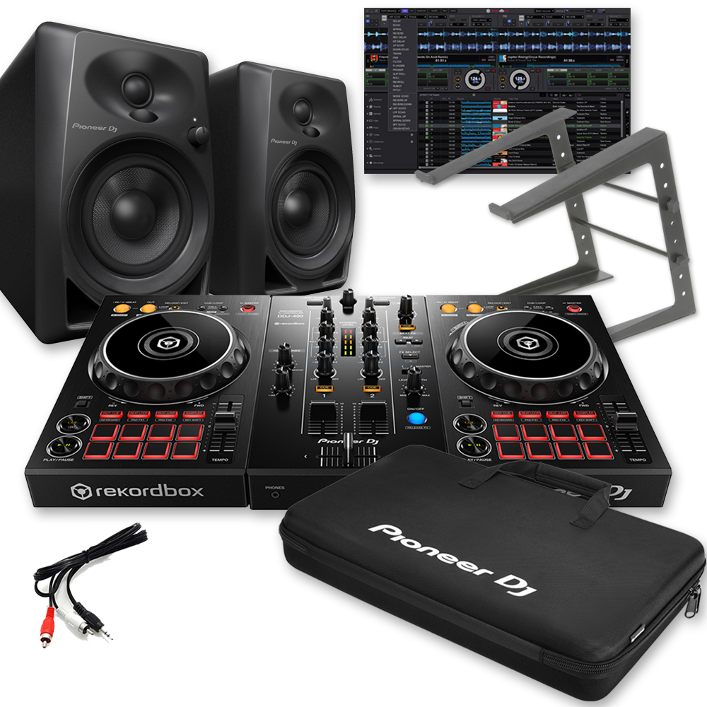 Pioneer DDJ-400, DM-40's, Rekordbox DJ, Carry Bag & Laptop Stand
