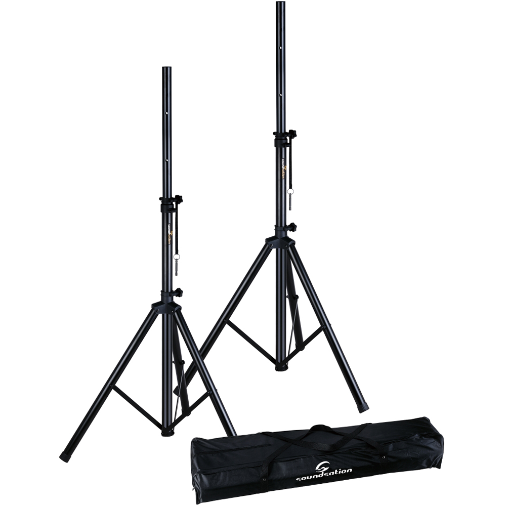 Soundsation Tripod PA Speaker Stands (Pair) + Carry Case