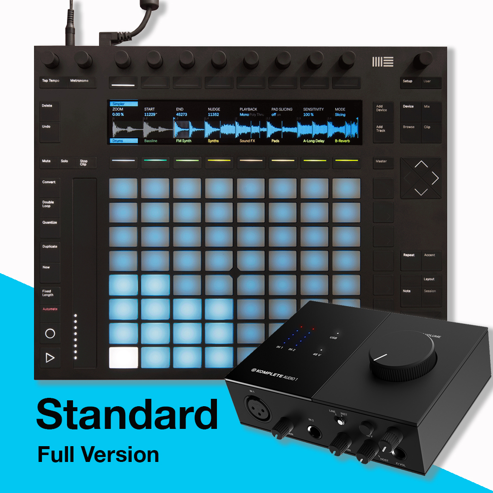 Ableton Push 2 + Live 11 Standard & NI Komplete Audio 1 Bundle