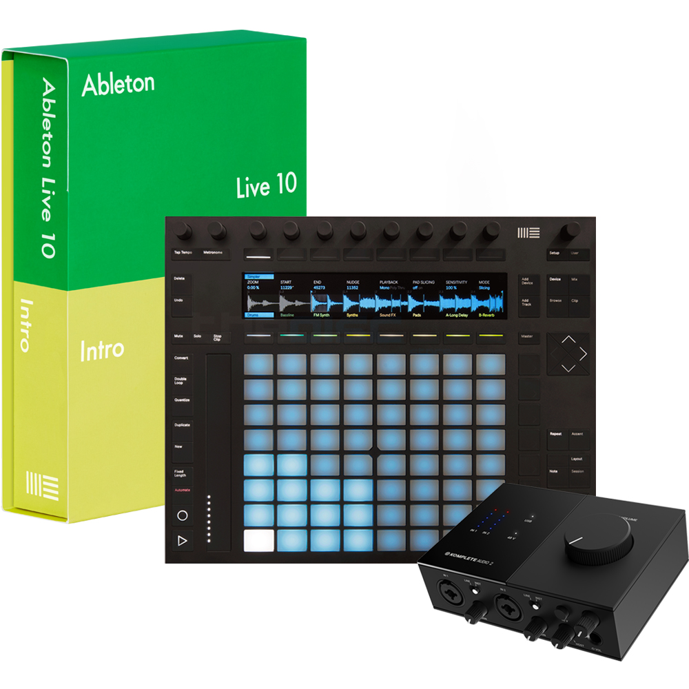 Ableton Push 2 & Live 10 Intro + NI Audio 2 Interface Bundle
