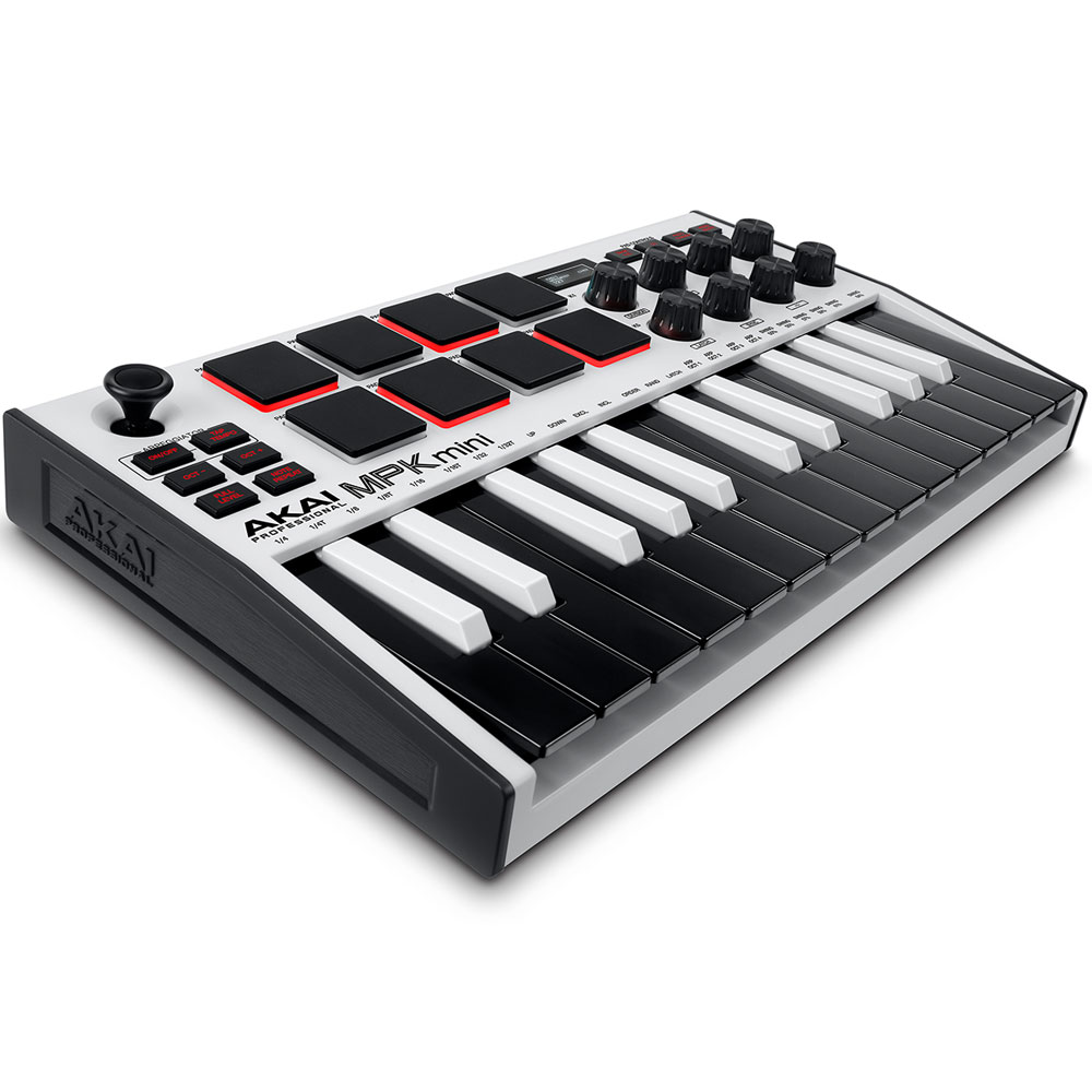Akai MPK Mini MK3, MIDI Controller Keyboard, White Edition
