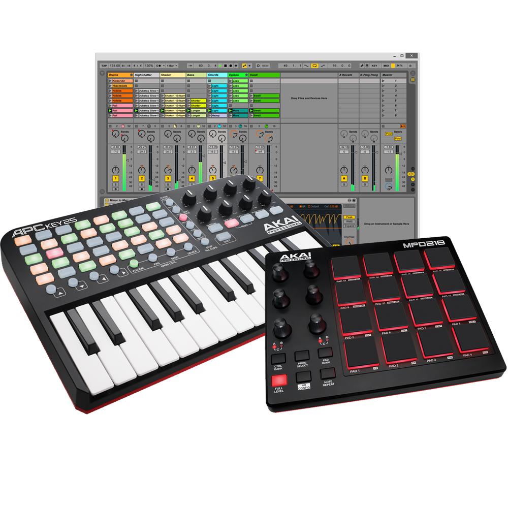 Akai MPD218 & APC Key 25 Pad Controller + Keyboard, Ableton Live Lite
