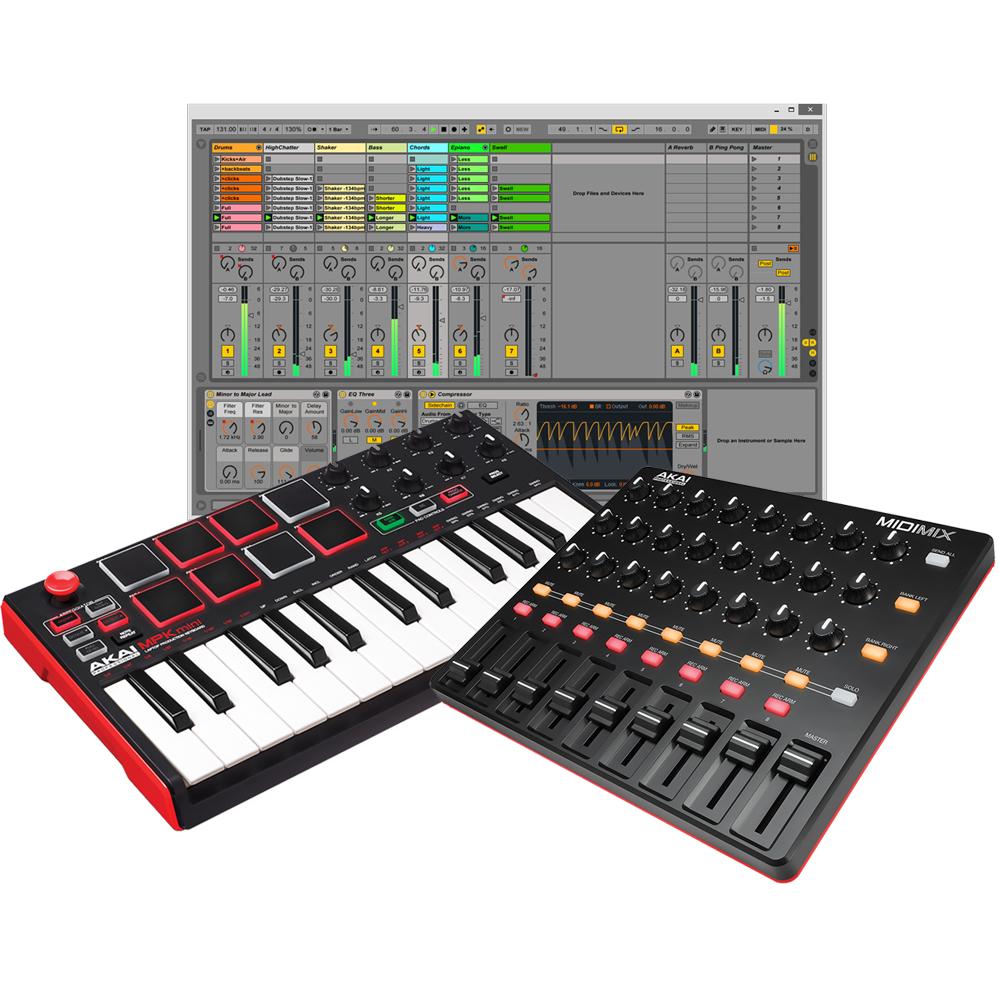 Akai MidiMix & MPK Mini MKII USB Mixer + Keyboard, Ableton Live Lite
