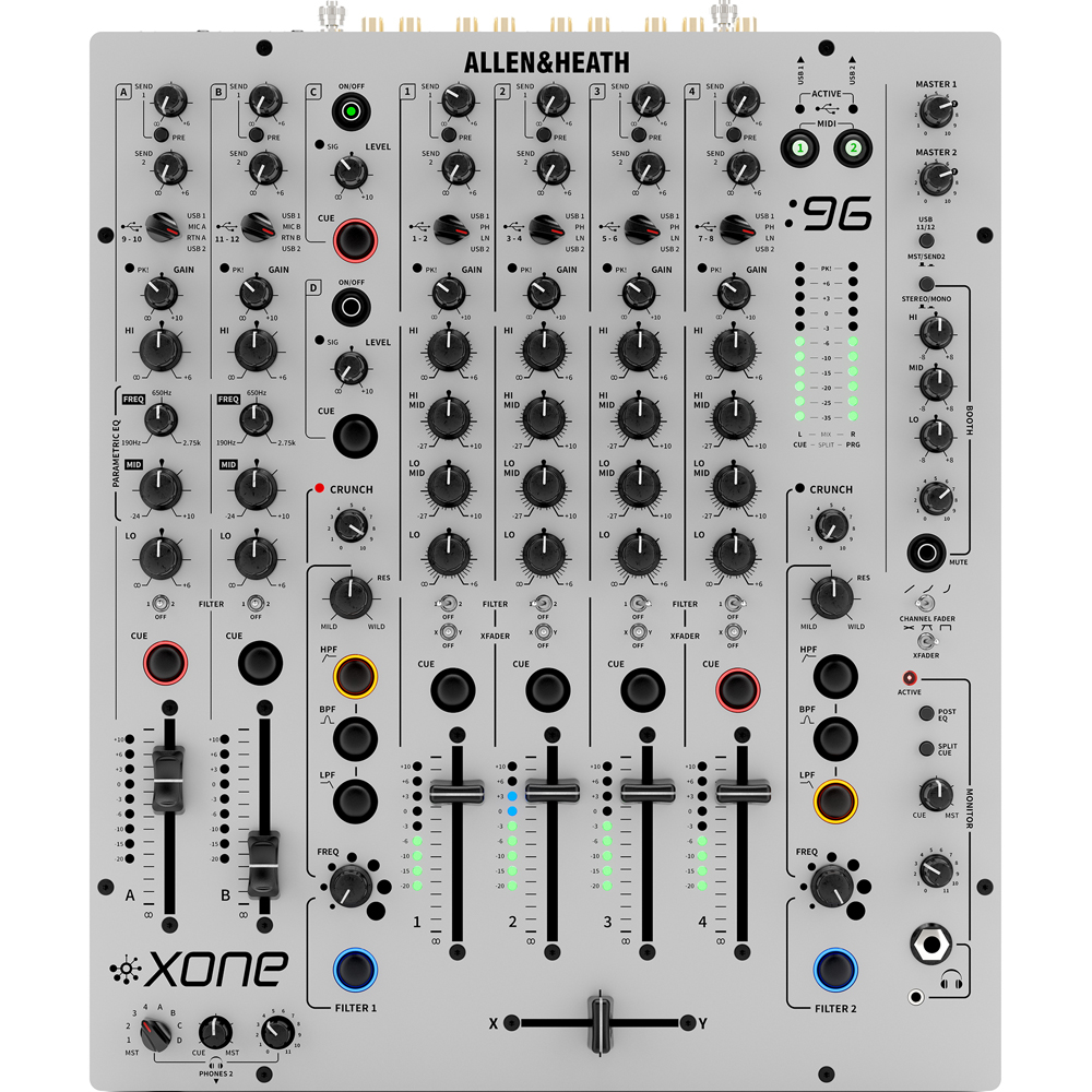Allen & Heath Xone 96 Professional Analogue DJ Mixer + USB Soundcard