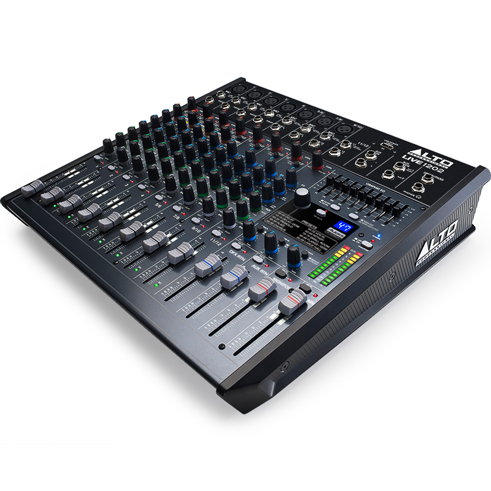 Alto LIVE 1202 Mixing Desk, DSP Effects & USB Audio