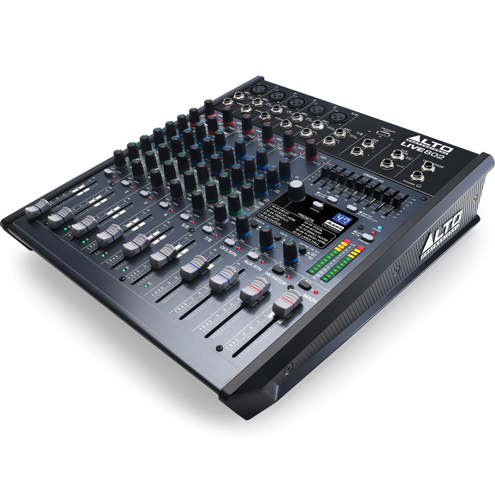 Alto LIVE 802 Mixing Desk, DSP Effects & USB Audio