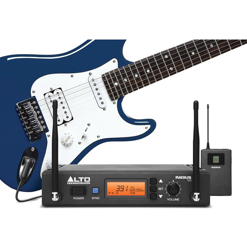 alto radius 100m wireless instrument microphone system the disc dj store. Black Bedroom Furniture Sets. Home Design Ideas