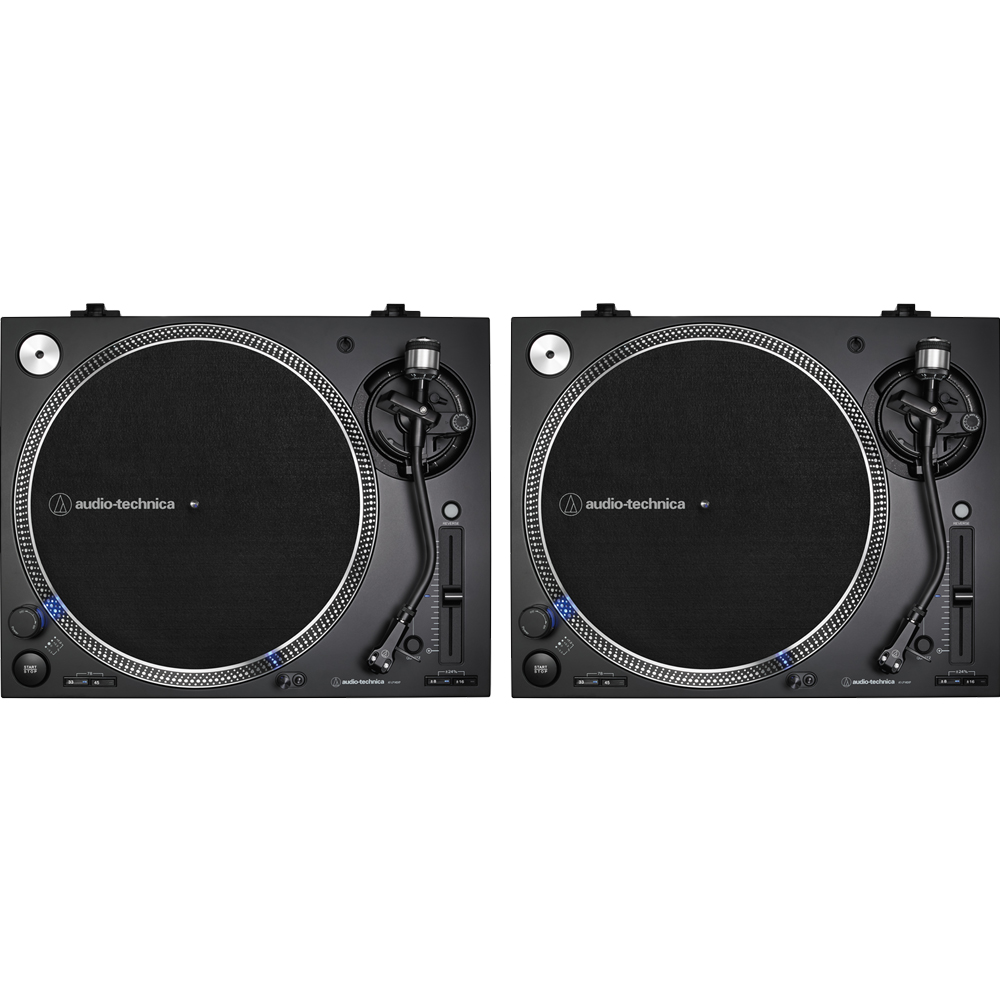 Audio Technica AT-LP140XP Black, Direct Drive DJ Turntables (Pair)