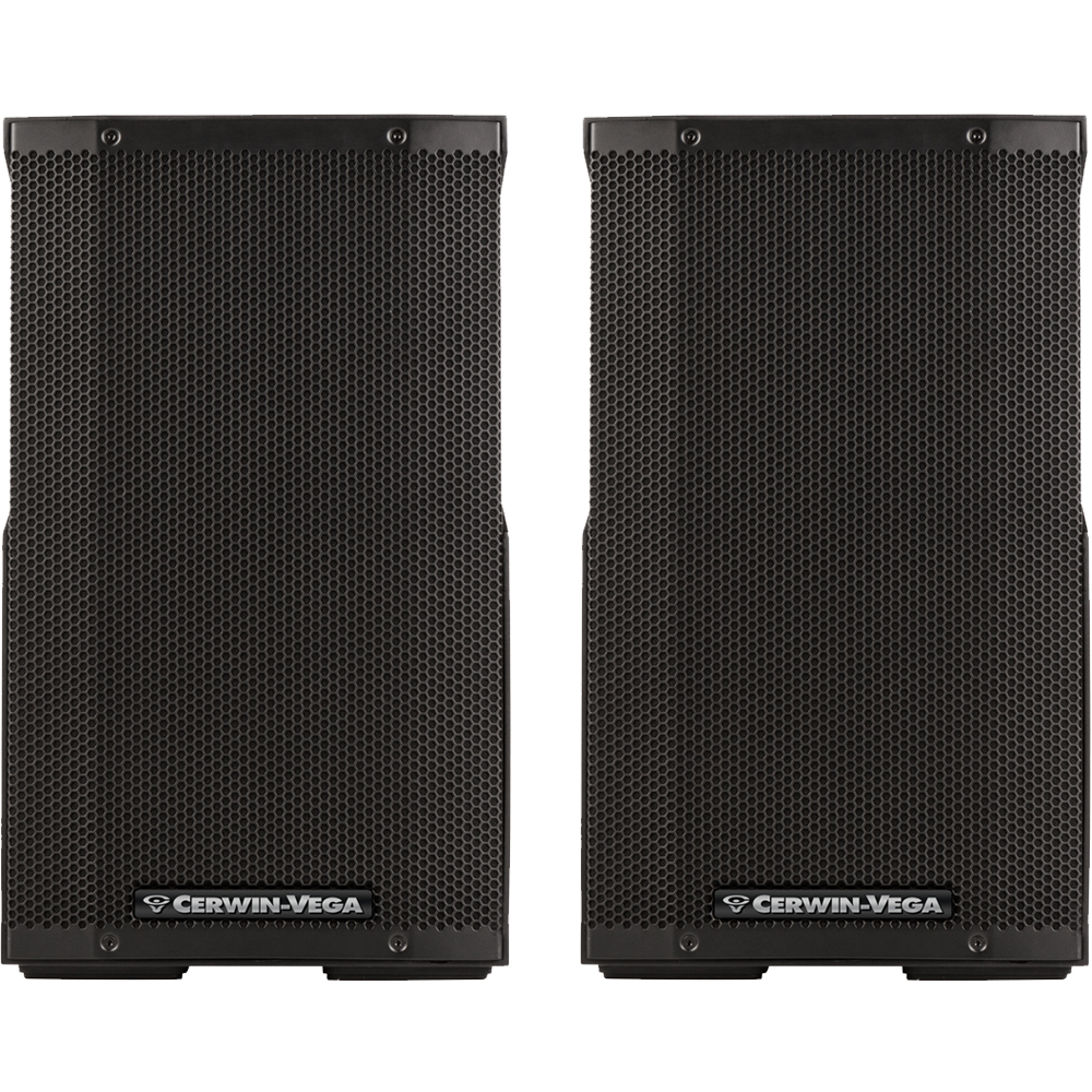 Cerwin Vega CVE-10, 1000w 10'' Active PA Speakers With Bluetooth (Pair)