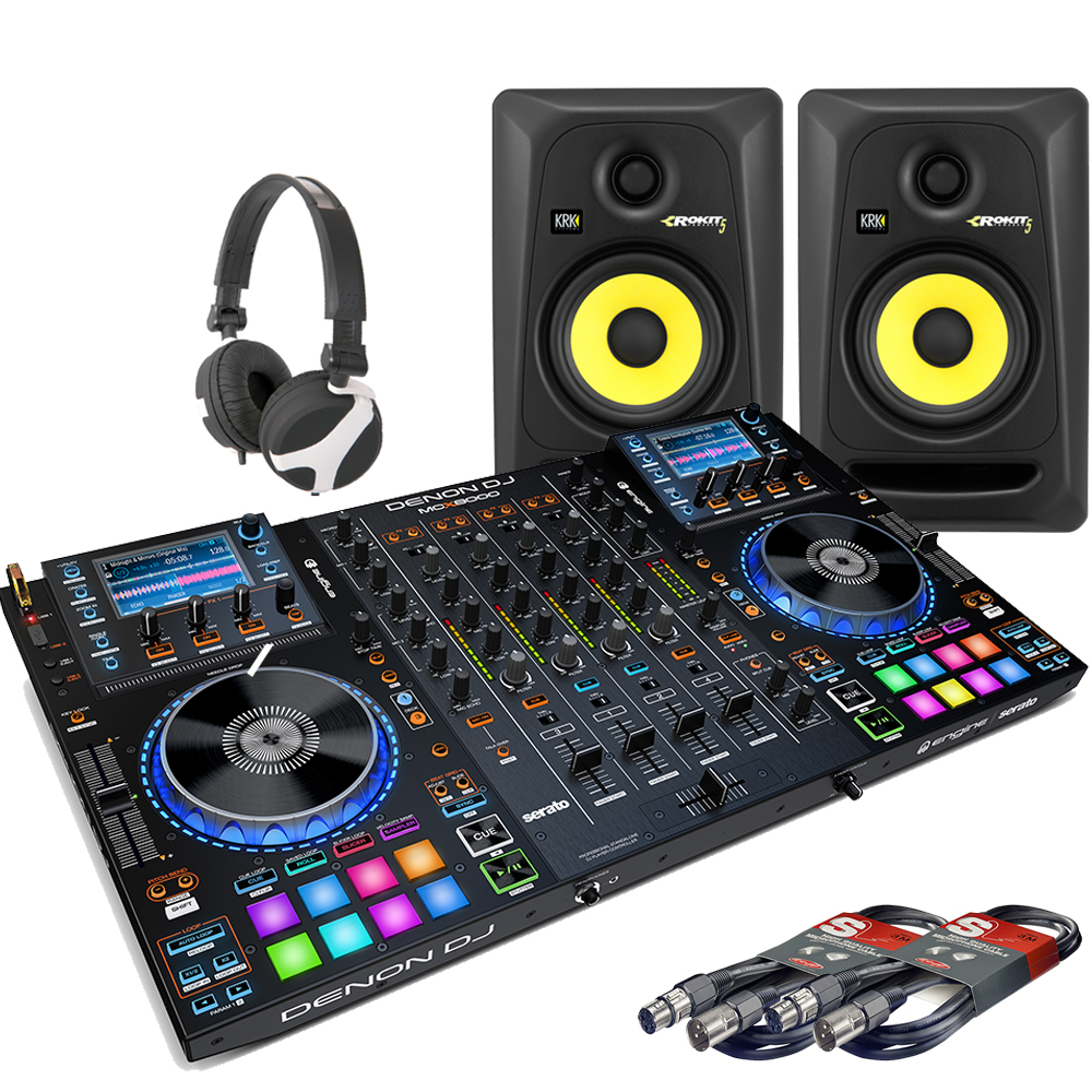 Denon MCX8000, Rokit 5 Speakers & Headphones Bundle