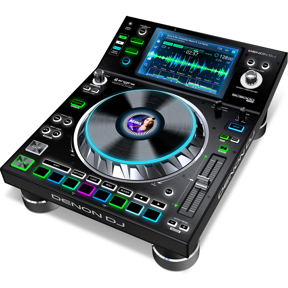 Denon SC5000 DJ Multiplayer With 7'' Touch Screen (Single) (B-Stock)