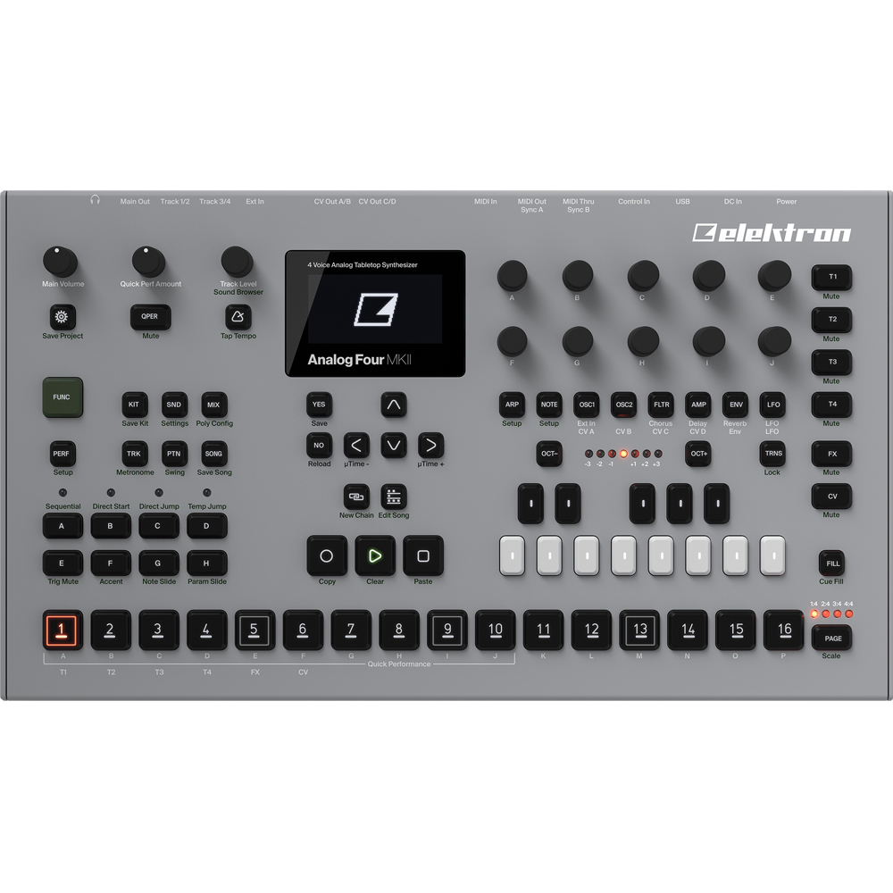 Elektron Analog Four MKII, 4 Voice Analogue Synthesizer