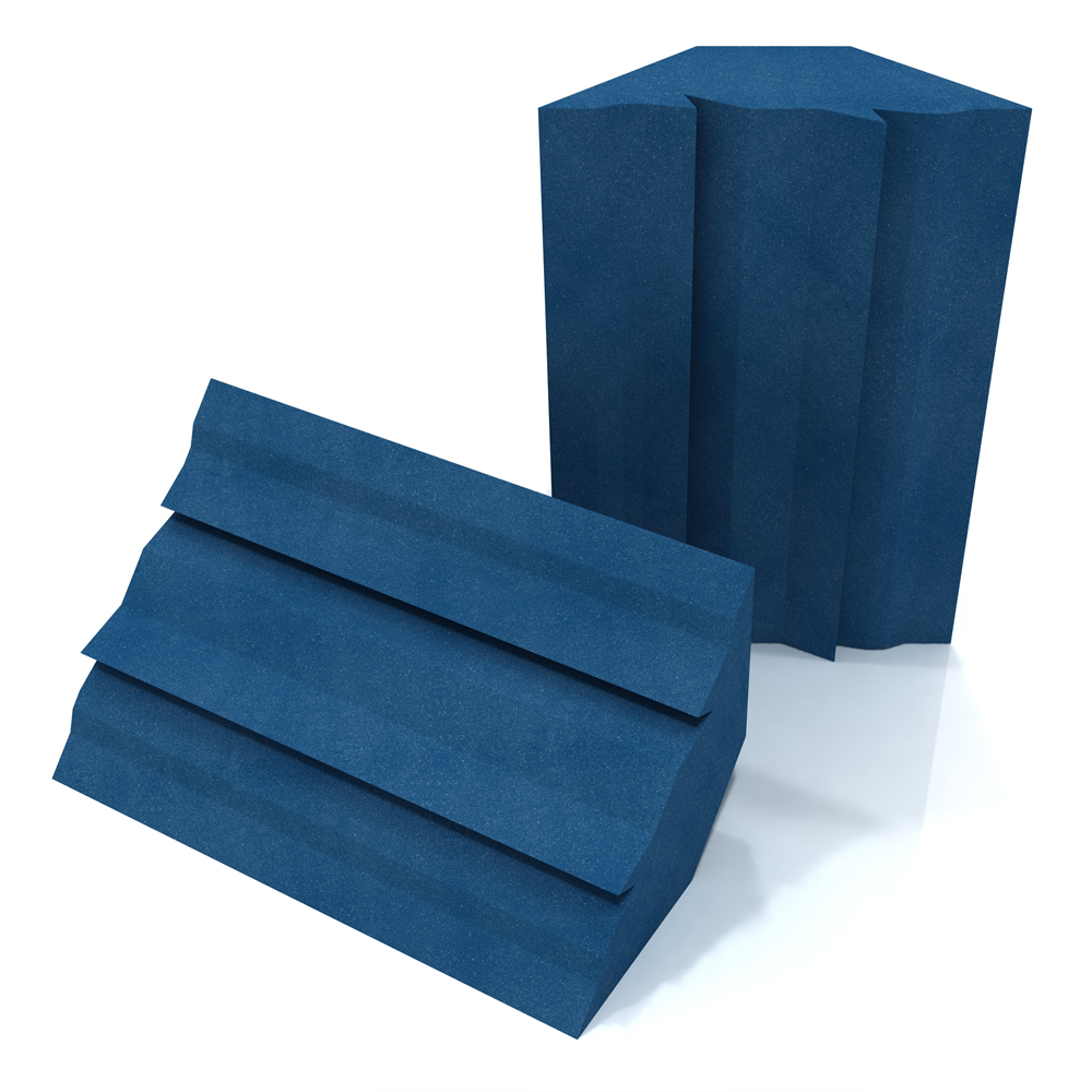 EQ Acoustics Project Corner Trap Acoustic Foam (Blue) x2