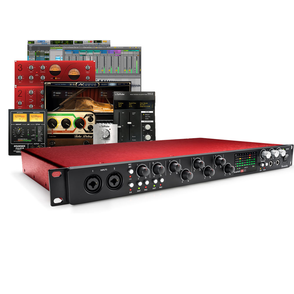 Focusrite Scarlett 18i20 (2nd Gen) Audio Interface, Free Plugin Bundle