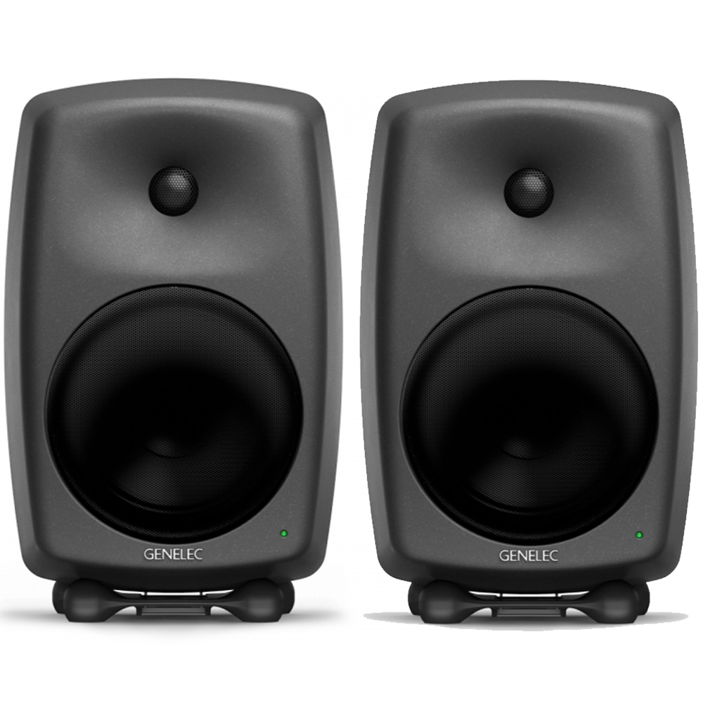 Genelec 8050B Matte Black Active Studio Monitors (Pair)