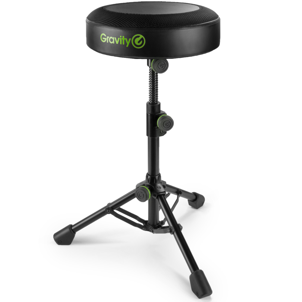Gravity FD SEAT 1, Round Musicians Stool, Foldable, Adjustable Height