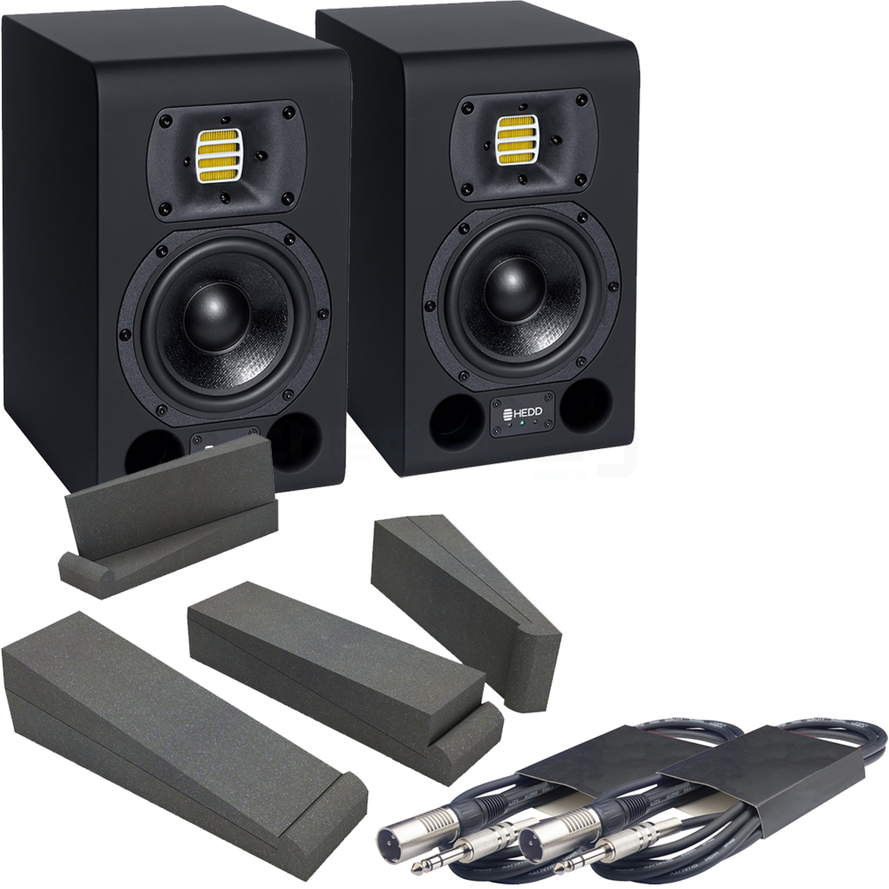 HEDD Type 05 Active Studio Monitors (Pair) + Pads & Leads Bundle