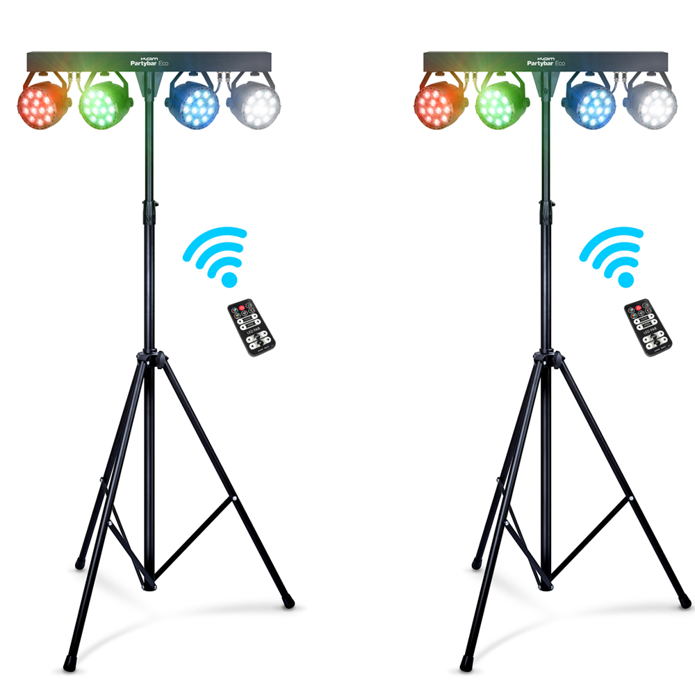 KAM Partybar Eco Portable Lighting System (Pair)