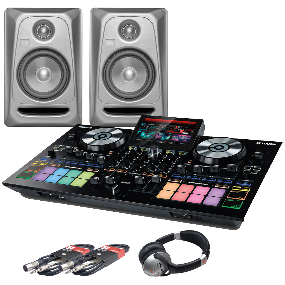 Reloop Touch, RP5 G3 Platinum Monitors + Headphones Bundle
