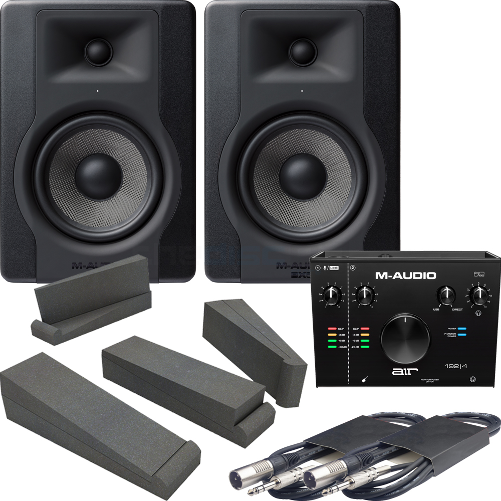 M-Audio BX5 D3 (Pair) + AIR 192|4 Interface, Pads & Leads