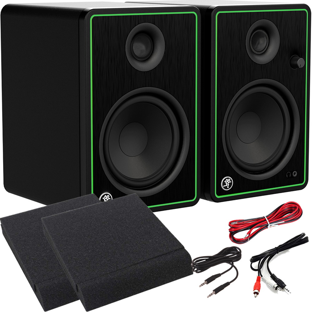 Mackie CR8X-BT Active Studio Monitors With Bluetooth + Pads & Leads
