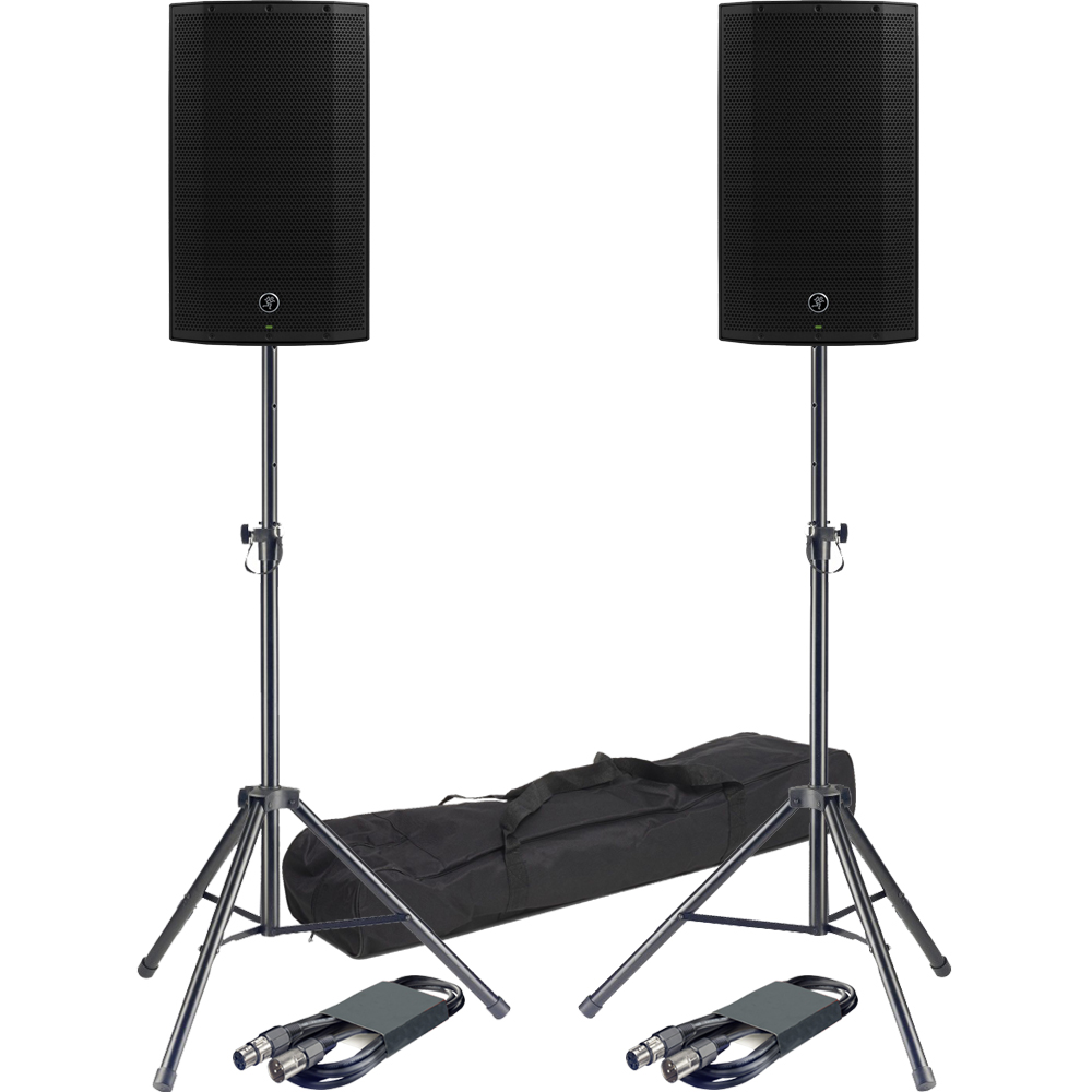 ​Mackie Thump 12A PA Speakers + Stands & Leads Bundle Deal