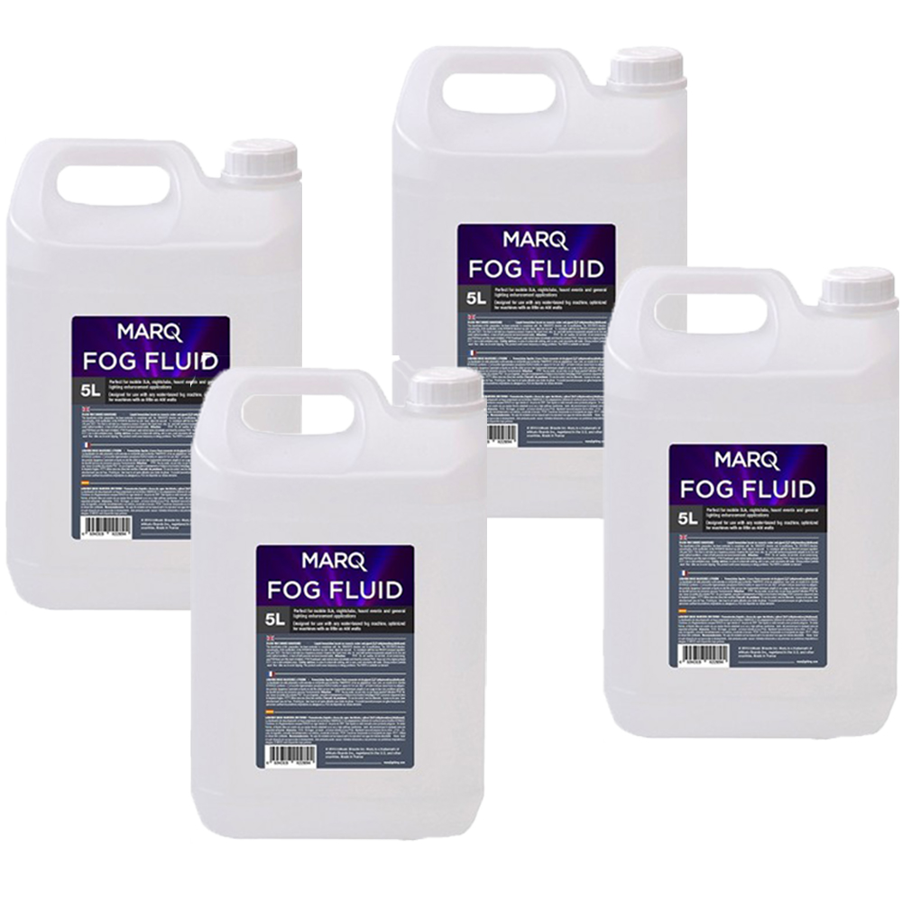 Marq Fog/Smoke Machine Fluid, 20 Litre Bundle Pack