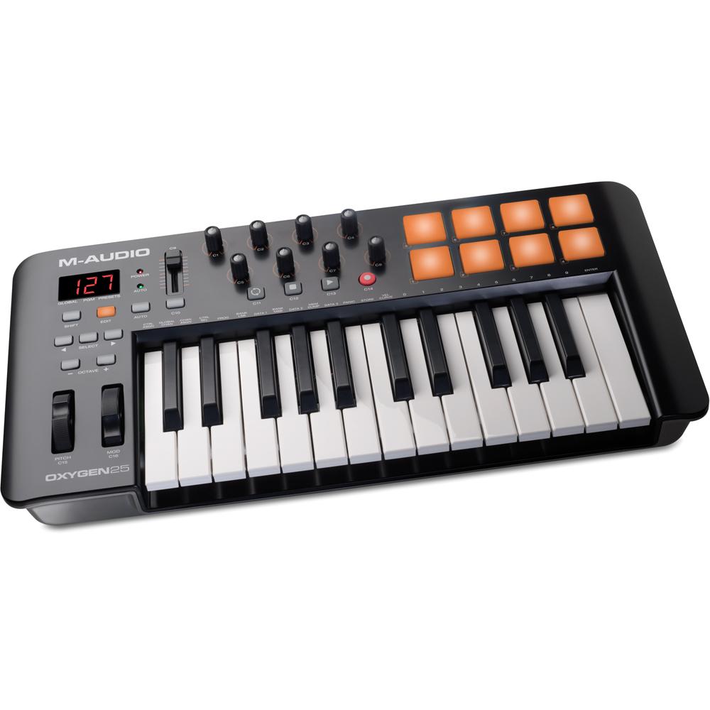 m audio oxygen 25 v4 usb midi controller keyboard the disc dj store. Black Bedroom Furniture Sets. Home Design Ideas