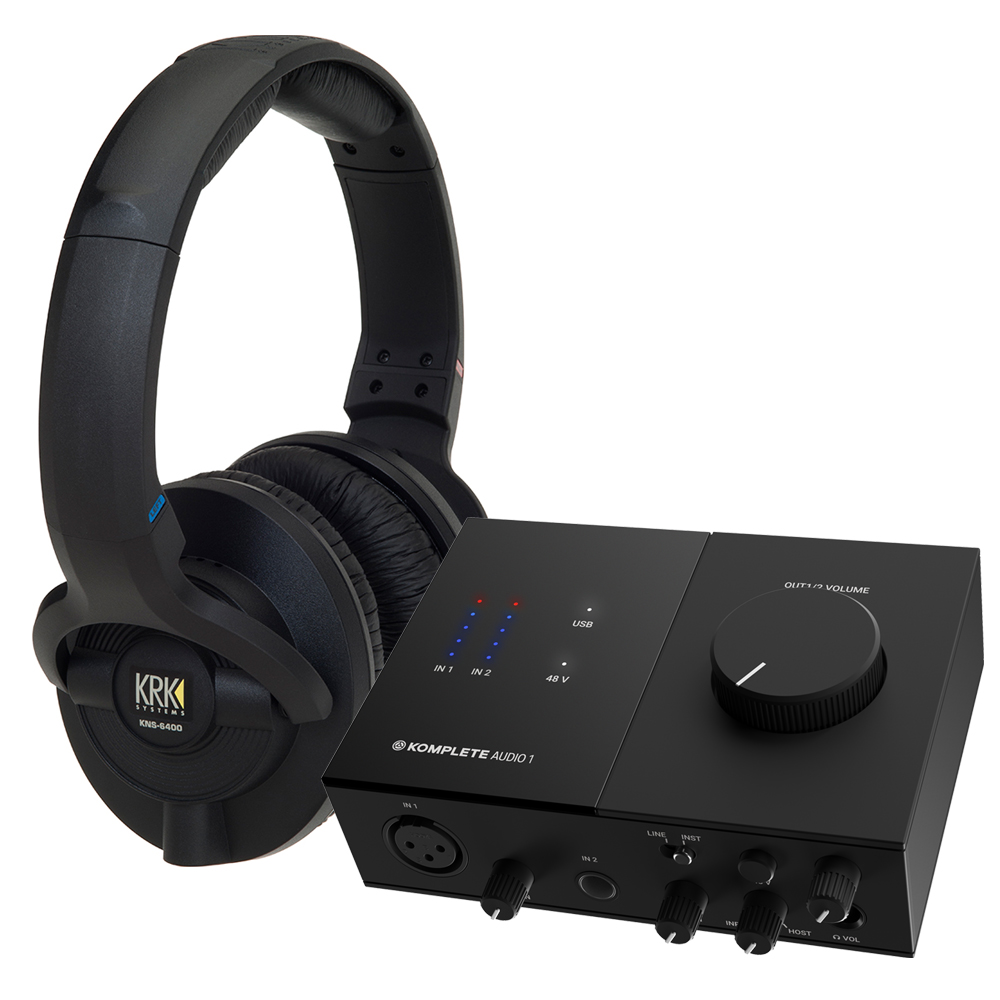 NI Komplete Audio 1 Interface + KRK KNS6400 Headphones Bundle
