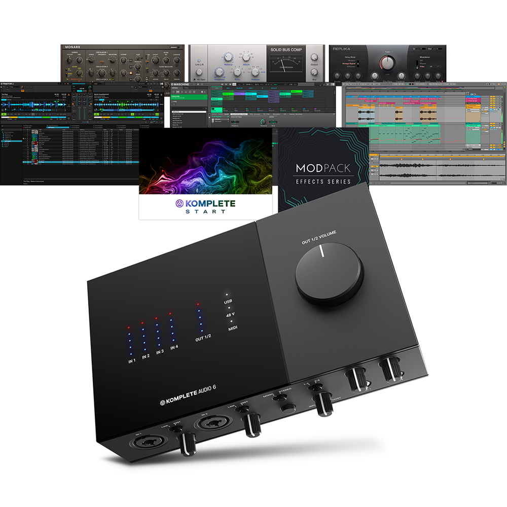 Native Instruments Komplete Audio 6 MK2 + Komplete Start & Maschine Essentials