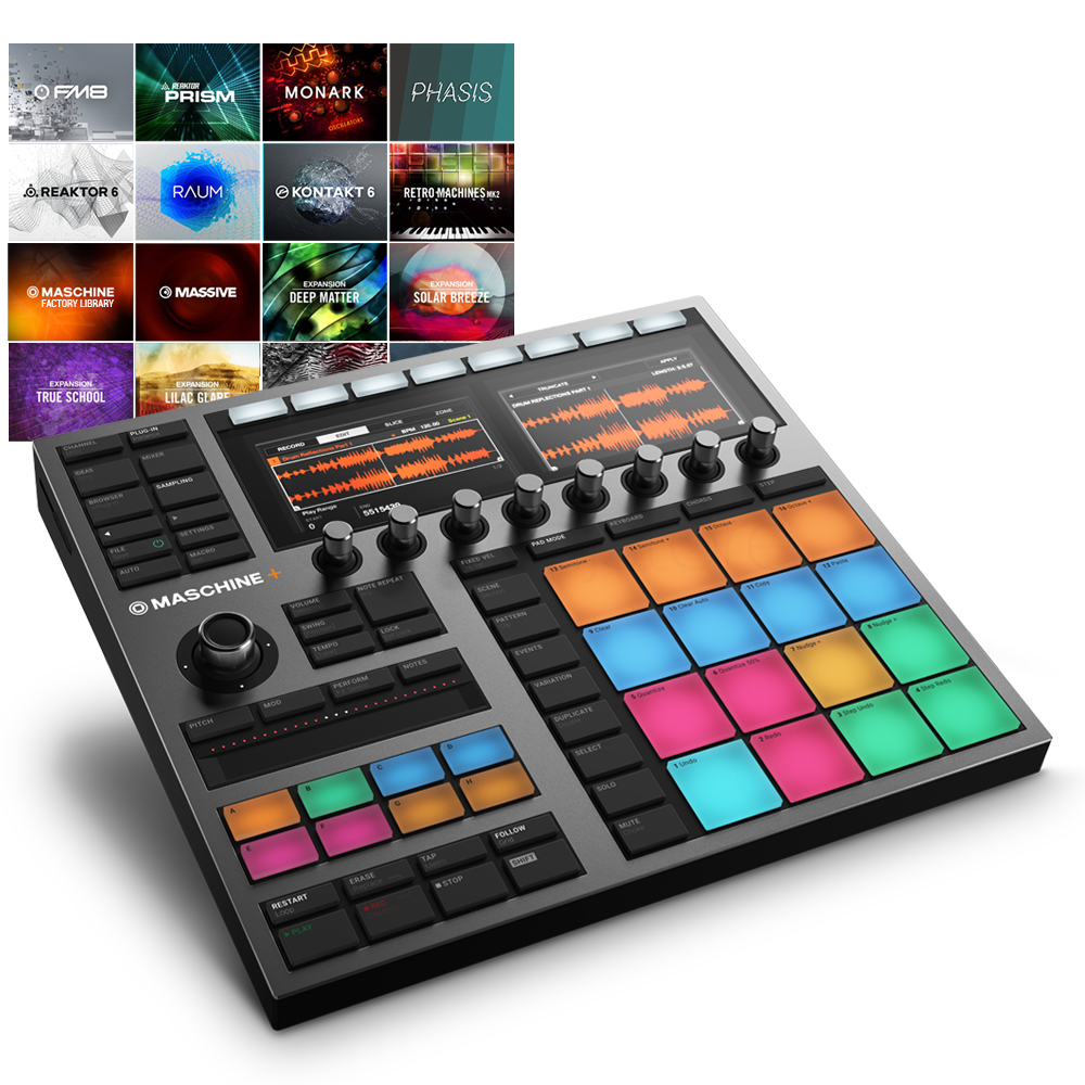 Native Instruments Maschine + Standalone Drum Machine, Sampler Instrument