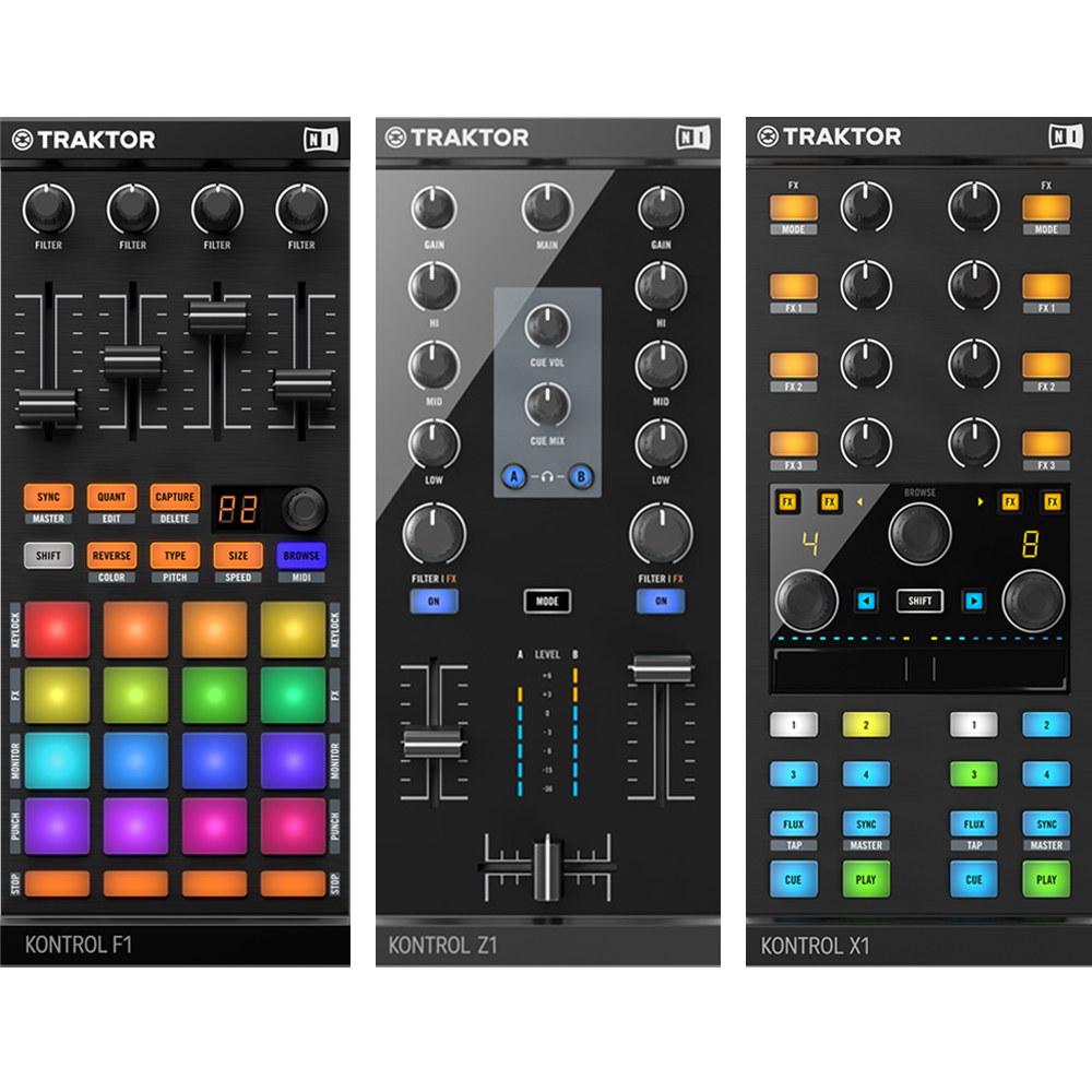 Native Instruments Traktor Kontrol F1, Z1, X1 Bundle