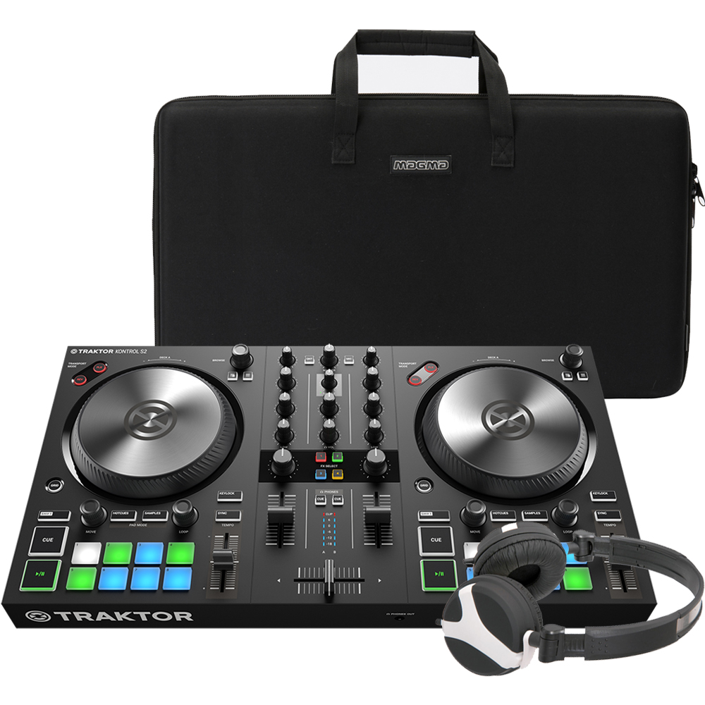 NI Traktor Kontrol S2 MK3 + Carry Bag & Headphones Bundle Deal