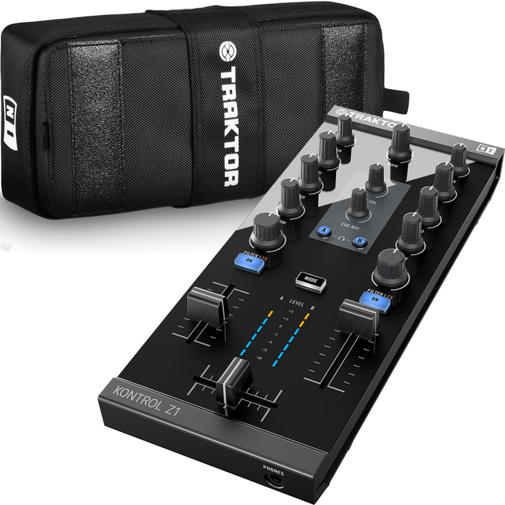 Native Instruments Traktor Kontrol Z1 DJ Mixer + Official Carry Case