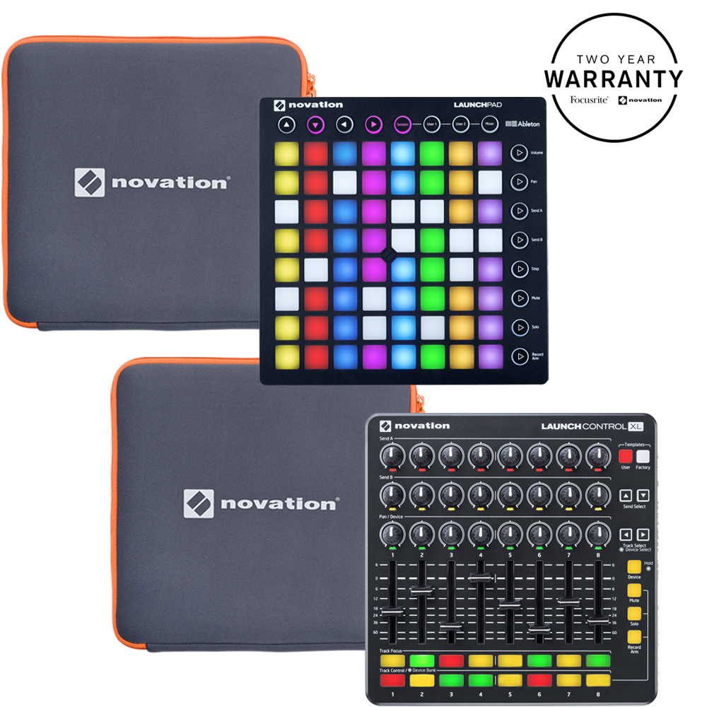 Novation Launchpad MK2, Control XL MK2, Ableton Lite + Free Sleeves