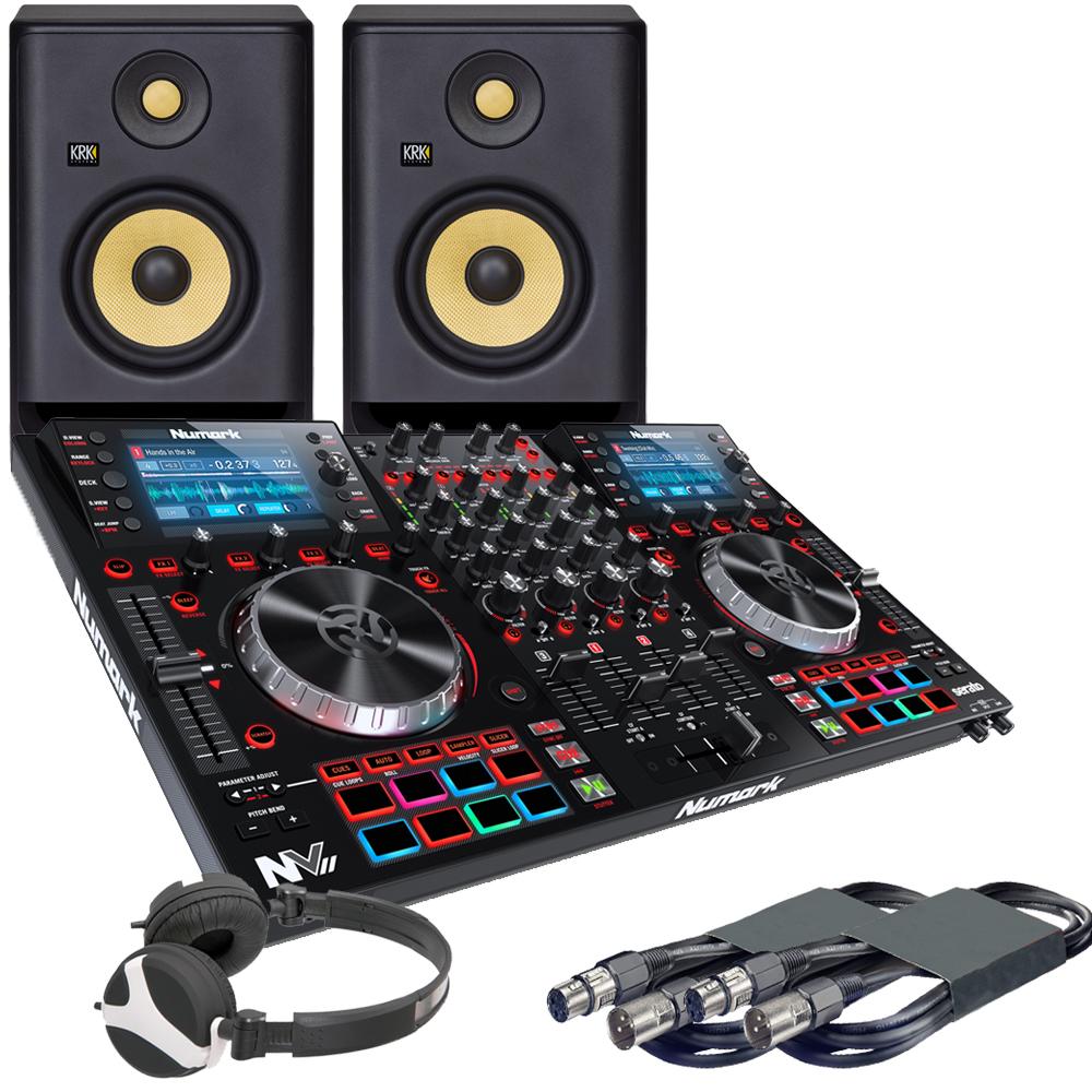 Numark NVII, RP5 G4 Monitors + Headphones Bundle