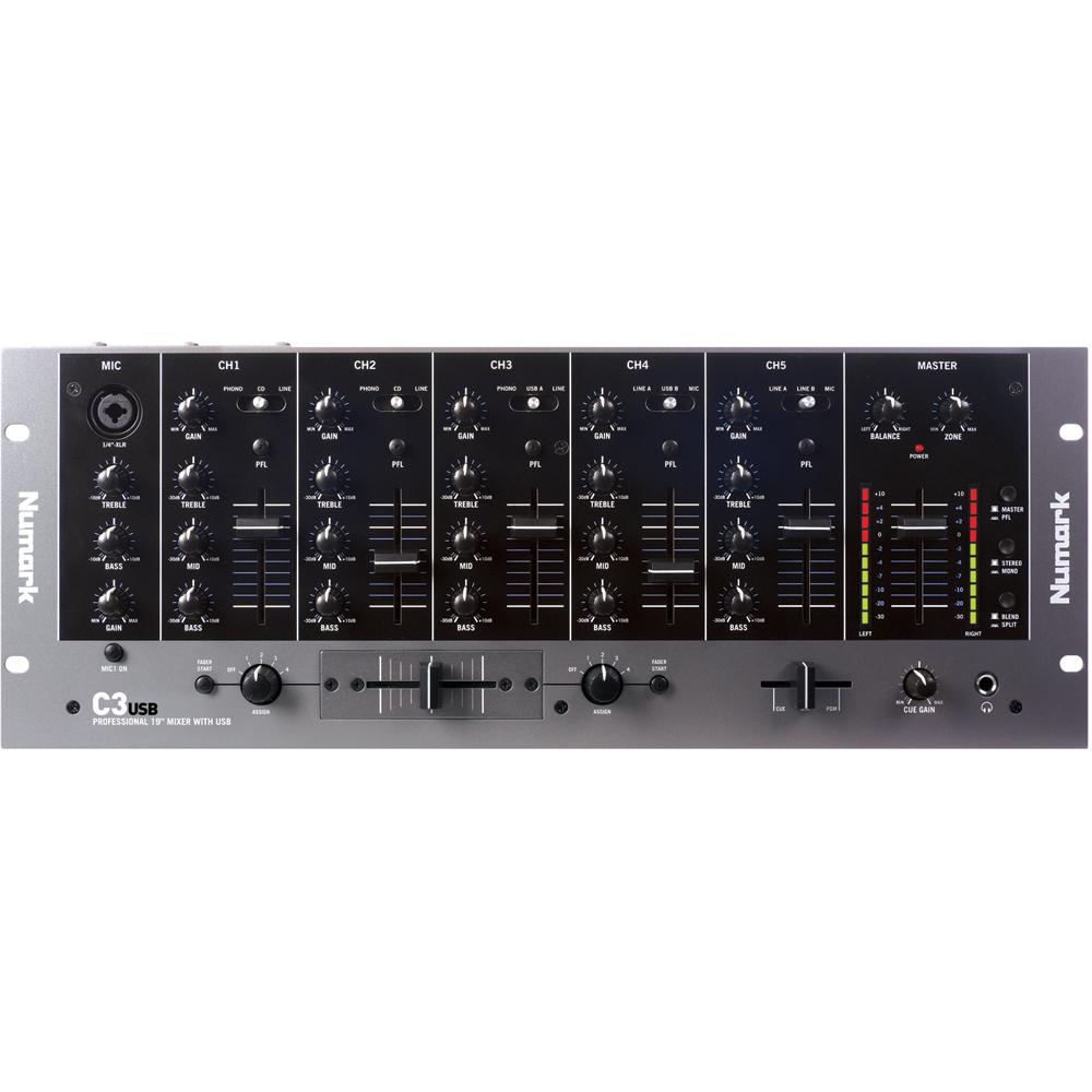 Numark C3 USB, 5 Channel DJ Mixer