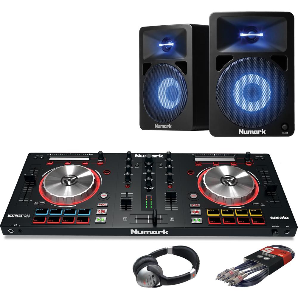 Numark Mixtrack Pro MK3, Numark 580L Speaker & Headphone Bundle